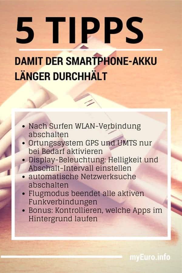 5 Tipps, damit der Smartphone-Akku länger durchhält