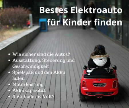 Bestes Elektroauto für Kinder finden