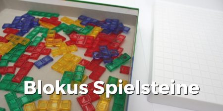 Blokus Spielsteine in vier Farben