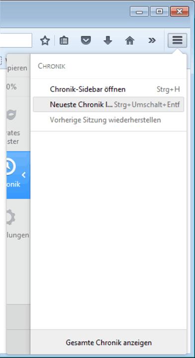 browserverlauf löschen wie geht das
