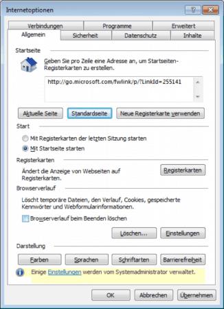 Browserverlauf automatische löschen, Internet Explorer beim Beenden