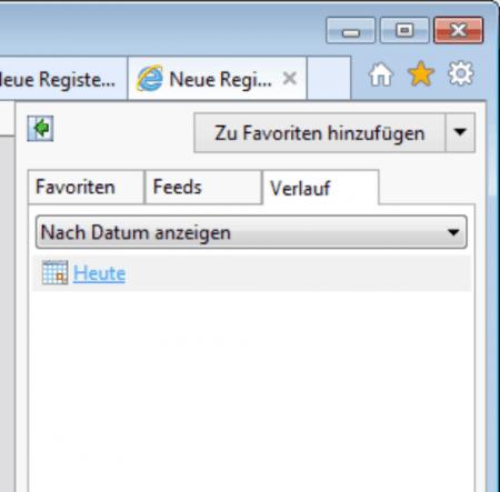 Verlauf im Internet Explorer anzeigen und löschen