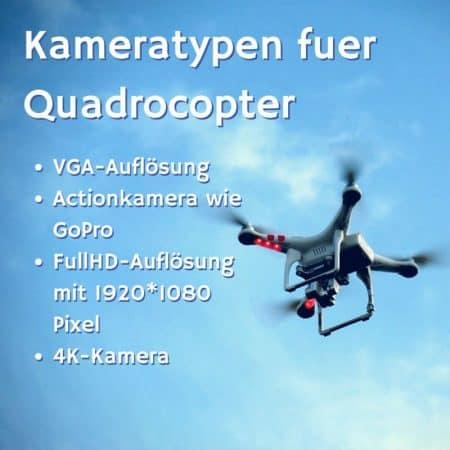 Kameratypen bei Quadrocoptern