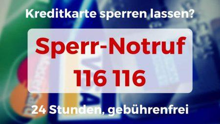Sperr-Notruf 116 116