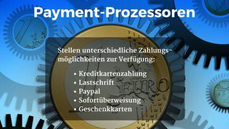 Payment Prozessoren bei Kkreditkartenzahlung