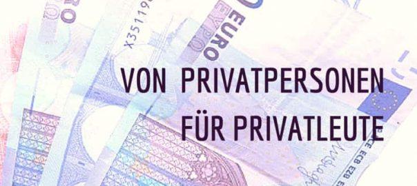 Privatdarlehen von Privatpersonen