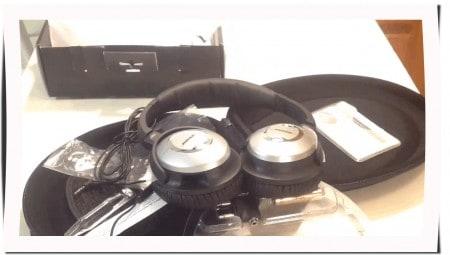 Ausgepackte Transporttasche, Bose Quietcomfort 15