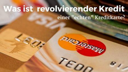 Kreditkarte mit revolvierendem Kredit