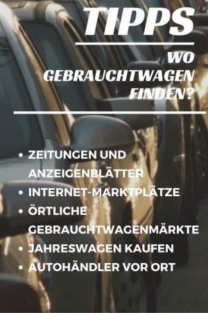 Wo Gebrauchtwagen finden, von privat und gewerblich